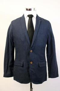 NWT GAP Midnight Blue LINEN BLAZER Jacket Sport Coat Two Button Lightweight S