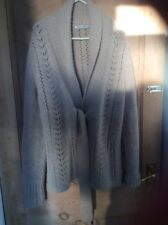 Beige heavy knit , Knitted Wool Cardigan/jacket Size L 70% lambs wool