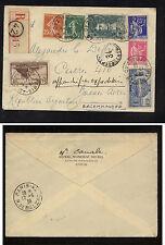 France 176,150,271,78,351-52  registered  cover to Argentina   1938    WG0615
