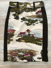 Euc Anthropologie Cartonnier Velvet Horse Stable Pencil Skirt 10 Flawless
