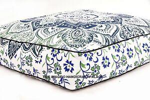 "Ombre Mandala Printed Cotton Throw 35"" Cotton Dog Cat Puppy Bed Floor Pillow Mat"