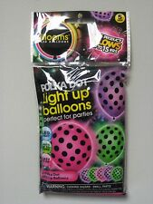 Illooms Balloons Polka Dot Light Up LED x5 Pack LOT OF TWO (2)