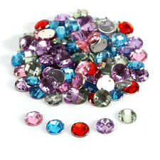 Pack of 100 Charming Sparkle Mix Crystal Rhinestones Sew on Craft Dress Making