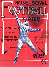1936 Rose Bowl Football program, Stanford vs. Southern Methodist~ Poor