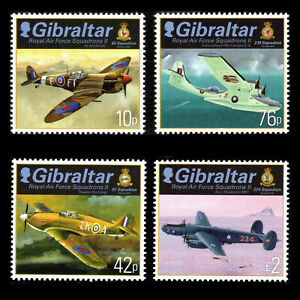 Gibraltar 2013 - Royal Air Force Squadrons - Set of 4 - MNH