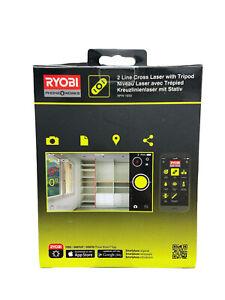 Ryobi Phone Works 2 Line Cross Laser Level & Tripod RPW-1650