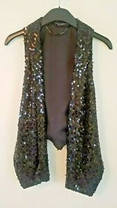 Women's Dorothy Perkins Sequinned Christmas/Occasion Waistcoat Size 6 Never Worn