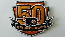 NHL PHILADELPHIA FLYERS JERSEY SHIRT JACKET HOODIE SWEATER HOCKEY 50TH PATCH