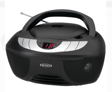 Jensen CD AM/FM Radio Boombox with LED display Black CD-475