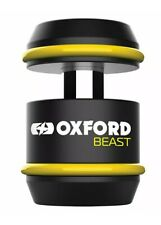 Oxford Beast Motorcycle Motorbike Lock Black / Yellow