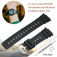 16mm Watch Strap for G-Shock Replace Band Rubber DW-6900 DW-5600 GW-M5610 🔥