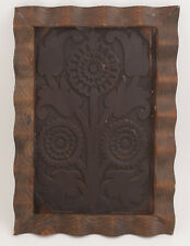 Primitive Wood Mold Stamp Butter Block Print Wethersfield Chest Panel (H5L-1)