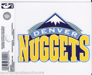 """Denver Nuggets 3"""" x 4"""" Small Static Cling - Truck Car Window Decal NEW NBA"""