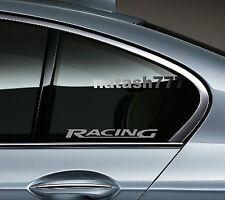 2 - RACING BMW M3 M5 M Power E36 E39 E46 E60 Decal sticker  emblem logo SILVER