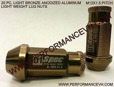 M12 X 1.25 Bronze Aluminum Racing Lug Nut Subaru WRX STI S13 S14 Z32 Z33