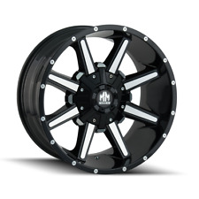 Mayhem Arsenal 8104 Black and Machined 20x9 18mm 5x150 5x139.7 Dodge Ram Tundra