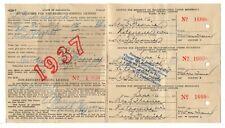New listing Non-Resident Fishing License Minnesota 1937