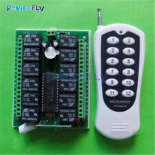 DC12V 12 Channel Relay RF Switch Remote Control Transmitter + Receiver 315MHz
