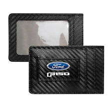 Ford F150 2015 - 2018 Black Carbon Fiber RFID Card Holder Wallet with Money Clip