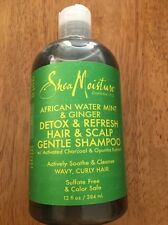 SHEA MOISTURE AFRICAN WATER MINT AND GINGER DETOX REFRESH HAIR SCALP  SHAMPOO