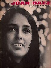 JOAN BAEZ 1965 FAREWELL, ANGELINA TOUR CONCERT PROGRAM BOOK / NMT 2 MINT