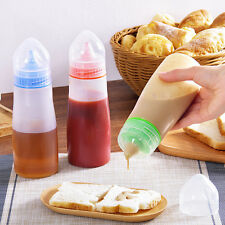 Plastic Squeeze Bottle Condiment Dispenser Ketchup Mustard Sauce Vinegar 16OZ
