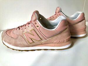 New Balance 574 Damen Sneaker Pink Rosa Pink Gold