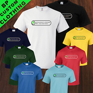 Kids Xbox Personalized Achievement Unlocked Gamer Gaming Funny TShirt 8 Colors