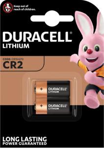 DURACELL CR2 Pile Lithium 3V - Blister de 2 piles - DATE 03/2028