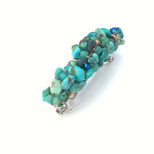 Turquoise Nugget Barrette 60mm BA322