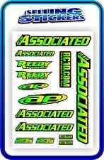 TEAM ASSOCIATED RC STICKERS DECAL 1/10 1/8 TC7 CAR BUGGY OFF ROAD GREEN YELLOW B