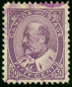 95 - 50c (1908) Edward VII Gorgeous Used Single