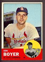 1963 Topps Baseball #375 Ken Boyer St. Louis Cardinals - 5th Series