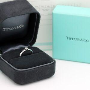 Tiffany & Co. Verlobungsring Platin 950-Gr.48 - Box & Zertifikat 0,29 ct - VS1
