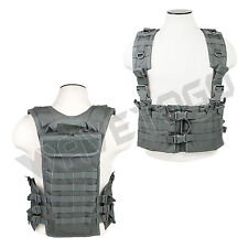 VISM NcSTAR Tactical AR Chest Rig Magazine Pouch PALS Web Hydration Gray