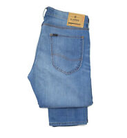 Mens Lee Luke skinny/slim stretch jeans 'Instinct blue' RRP£85 Cut Label L38