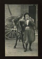 Spain MALLORCA Serie Truyol Man and donkey c1920/30s? RP PPC