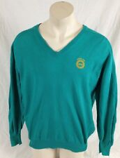Teal V-Neck Long Sleeve Shirt Local 933 UAW King Louie Made in USA Men's XL