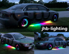 "jhb-lighting 4PCS 15.5"" Chasing Wheel Lights + 2PCS 6.5FT LED Strips Lights KIT"