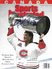 Patrick Roy Signed Sports Illustrated Cover - Montreal Canadiens June 21, 1993.