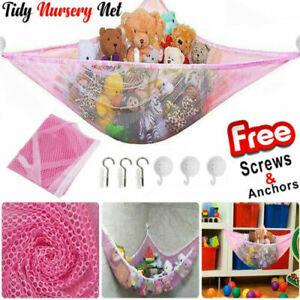 Large Soft Toys Hammock Mesh Net Teddy Bear Keep Baby Bedroom Tidy Nursery