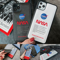 NASA Space Couple Leather Soft Phone Case Cover For iPhone11Pro Max 8Plus XR