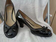 Super Designer Ladies Shoes by Clarks - Sz 3 1/2 - Black Patent - B. New