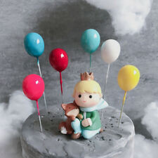 6Pcs Rainbow Balloon Cupcake Toppers Bridal Shower Birthday Cake Decoration