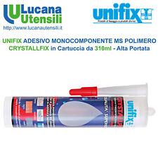 UNIFIX ADESIVO MONOCOMPONENTE CRYSTALLFIX in Cartuccia da 310ml - Alta Portata