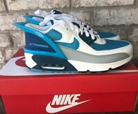 Nike Air Max 90 FlyEase GS Sneaker Youth 6Y Womens 7.5 Blue White CV0526 Lace