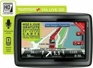 GPS TOMTOM VIA 120 CARTES FRANCE & EUROPE 45 PAYS AVEC ALERTES RADARS