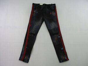 NEW Jordan Craig Legacy Edition Jeans Youth 16 Black Denim Painted Streetwear H8