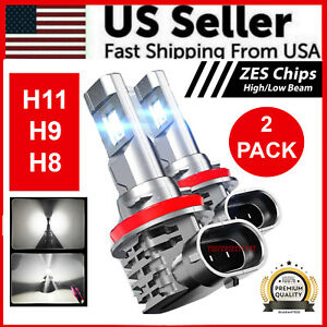 H11/H9/H8 120W LED Headlight Kit High / Low Beam Bulb Super Bright 6500K 24000LM