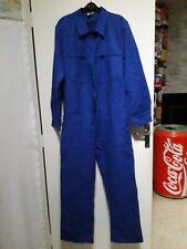 Combinaison bleu de travail coton neuf T.54/56 Vintage blue work suit size L/XL